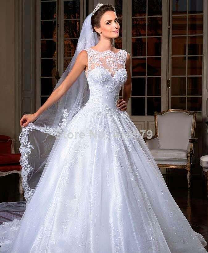 2014-Vestido-de-noiva-Sexy-Sleeveless-White-A-Line-Wedding-Dresses-Applique-Crystals-Bow-Floor-Legth-1